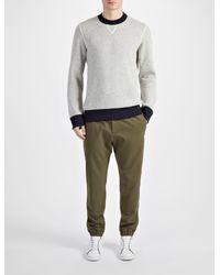 JOSEPH | Gray Bonded Cashmere Sweatshirt for Men | Lyst