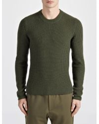 JOSEPH - Green Military Cashmere Sweater for Men - Lyst