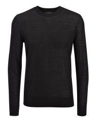 JOSEPH | Black Light Merinos Sweater for Men | Lyst