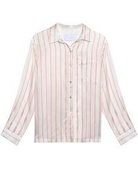 Beautiful Bottoms   Multicolor Blush Stripe Modern Pj Top   Lyst