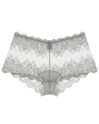 Only Hearts - Gray So Fine With Lace Hipster - Lyst