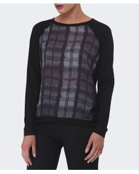 Barbour Black Millfire Checked Top
