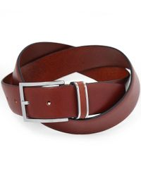 BOSS Brown Leather Froppin Belt for men
