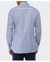 Hackett | Blue Slim Fit Gingham Oxford Shirt for Men | Lyst