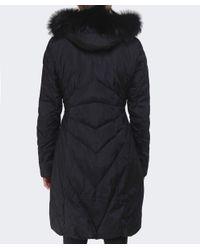Creenstone Black Eugenie Fur Trim Coat