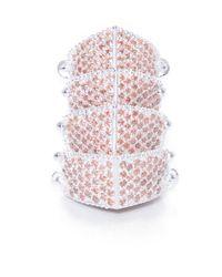 Vivienne Westwood | Metallic Diamante Armour Ring | Lyst