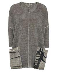Grizas - Gray Washed Linen Pocket Jumper - Lyst