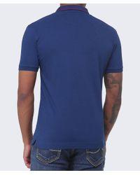 La Martina - Blue Slim Fit Guards Polo Shirt for Men - Lyst