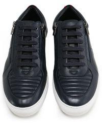 HUGO - Blue Leather Futurism_tenn_ltmtzp Trainers for Men - Lyst