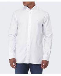 Hackett - White Slim Fit Plain Oxford Shirt for Men - Lyst