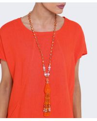 Butterfly | Orange Marrakesh Classic Tassel Necklace | Lyst