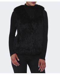 Yves Salomon Black Hooded Fur Gilet