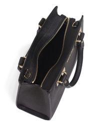 MICHAEL Michael Kors | Black Quinn Small Satchel Bag | Lyst