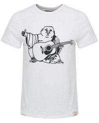 True Religion | White Buddha Print Cotton T-shirt for Men | Lyst