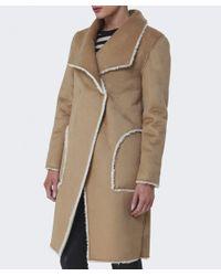 Velvet By Graham & Spencer Natural Tangy Faux Fur Coat