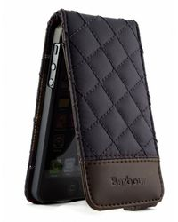 Barbour Black Quilted Iphone Case for men