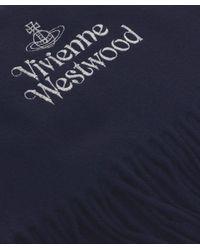 Vivienne Westwood | Blue Bronze Logo Wool Scarf for Men | Lyst