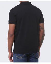 GANT Black Pique Cotton Polo Shirt for men