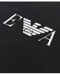 Emporio Armani - Black Crew Neck T-shirt Two Pack for Men - Lyst
