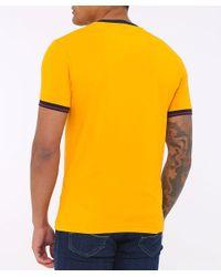 La Martina - Yellow Crew Neck Ero Ringer T-shirt for Men - Lyst