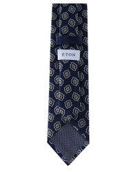 Eton of Sweden Blue Silk Patterned Tie for men