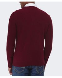 BOSS Orange Red Acestas Wool V-neck Jumper for men