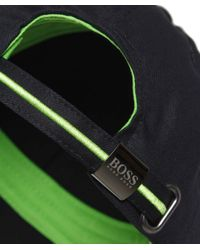 BOSS Green Black Logo Cap for men