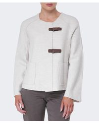 Oska - White Wool Lioba Jacket - Lyst