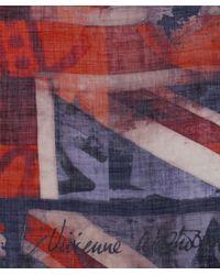 Vivienne Westwood Red Vintage Union Jack Scarf