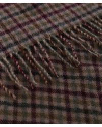 Barbour Green Wool Houghton Check Scarf for men