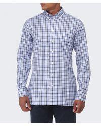 Hackett Blue Slim Fit Gingham Oxford Shirt for men