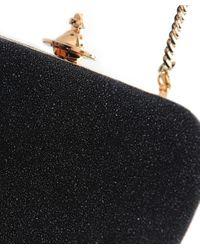 Vivienne Westwood Black Angel Clutch Bag