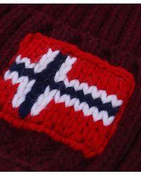 Napapijri | Red Beanie for Men | Lyst