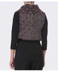 Crea Concept - Brown Knitted Aztec Vest - Lyst