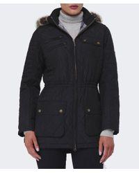 Barbour Black Bimota Quilted Jacket