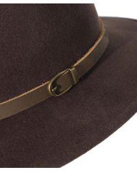 Olney Brown Safari Flex Felt Hat for men