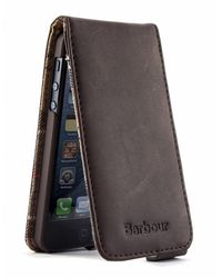 Barbour Brown Leather Iphone Case for men