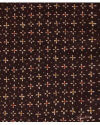 Stenstroms - Brown Floral Wool Pocket Square for Men - Lyst