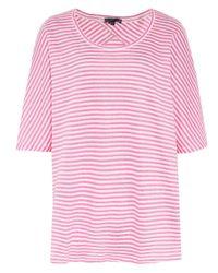 Oska Pink Linen Blend Belda T-shirt