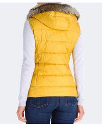 Barbour Yellow Beachley Fur Trim Gilet