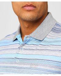 BOSS - White Regular Fit Striped Paddy 3 Polo Shirt for Men - Lyst
