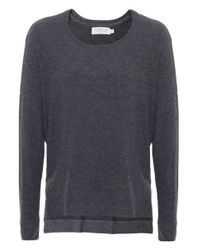 Velvet By Graham & Spencer Gray Sancha Brushed Sweater