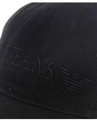 Armani Jeans | Black Logo Cap for Men | Lyst