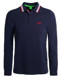 BOSS Green   Blue Modern Fit Plisy Polo Shirt for Men   Lyst