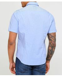 BOSS - Blue Regular Fit Short Sleeve Bowen_r Shirt for Men - Lyst