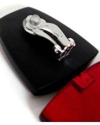 Monies - Red Clip On Ebony Drop Earrings - Lyst