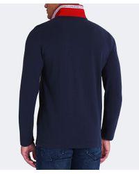 BOSS - Blue Modern Fit Plisy Polo Shirt for Men - Lyst