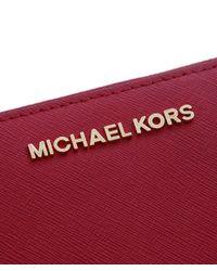 MICHAEL Michael Kors   Red Jet Set Continental Purse   Lyst