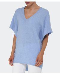 Duffy - Blue V-neck Cashmere Jumper - Lyst