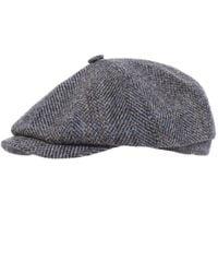 Stetson Gray Hatteras Harris Tweed Cap for men